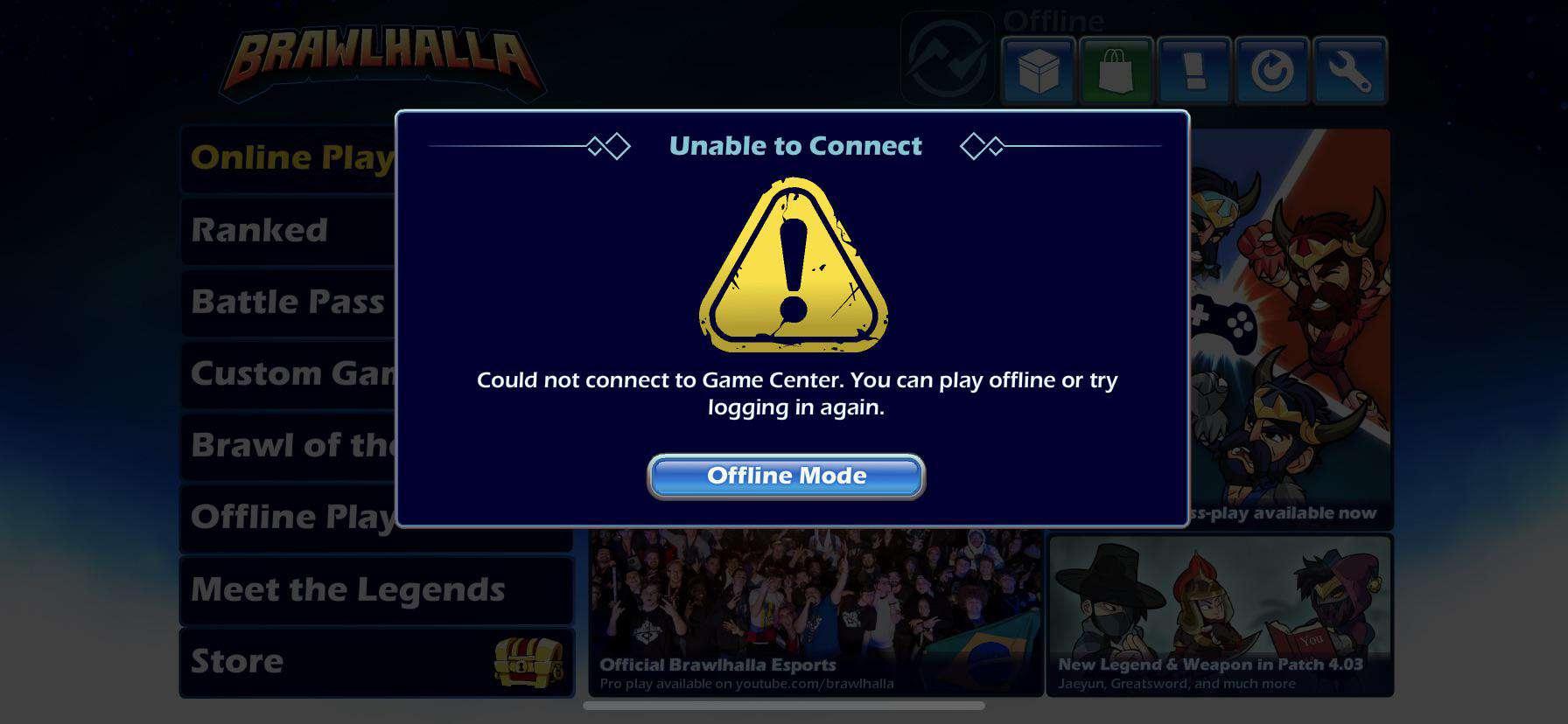 Brawlhalla: come risolvere errore GameCenter su iPhone (IOS)